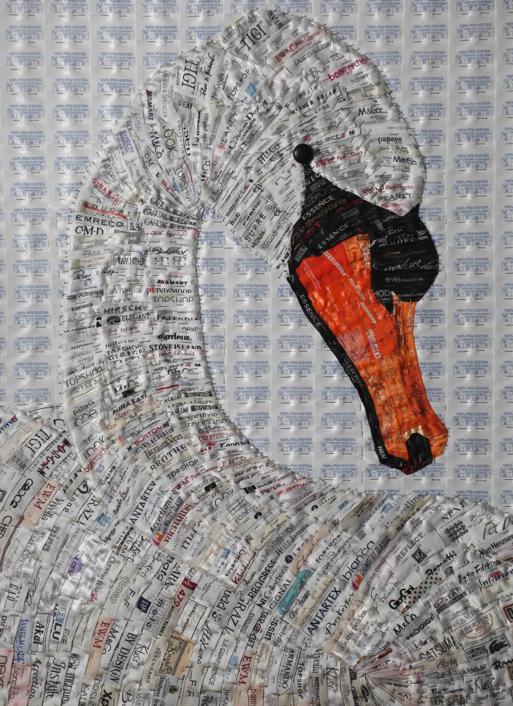 Joy Pitts Mute Swan with 5000 used labels