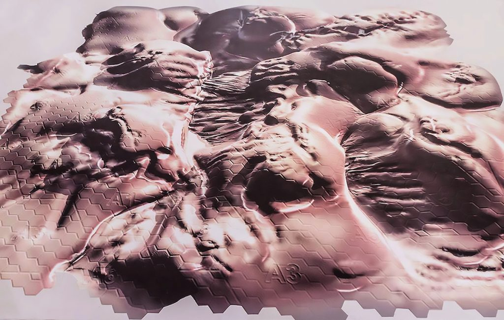 Feldspar [Hadal Zone] Vinyl floor print 2015, dimensions variable (installed at Wysing Arts Centre, Cambridge) www.joeyholder.com/the-uncanny-valley