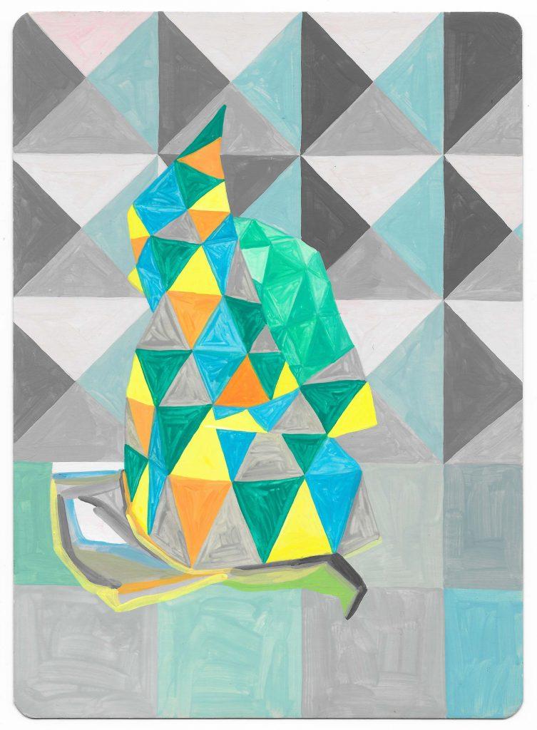 Profile, 2017. Gouache on card. Louisa Chambers