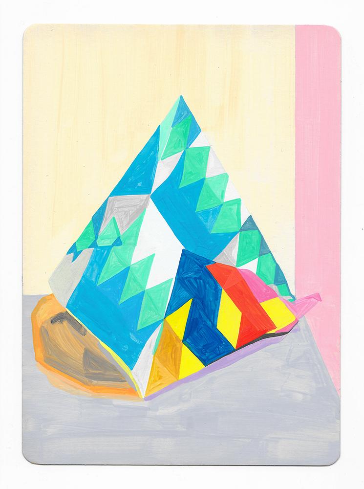 Tease, 2017. Gouache on card. Louisa Chambers.
