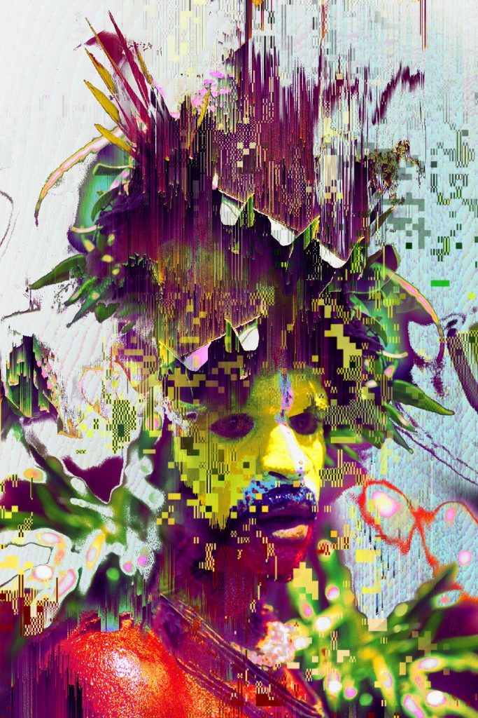 Matthieu Leger, Digital Ghost_II, Digital Glitch Collage, 2017
