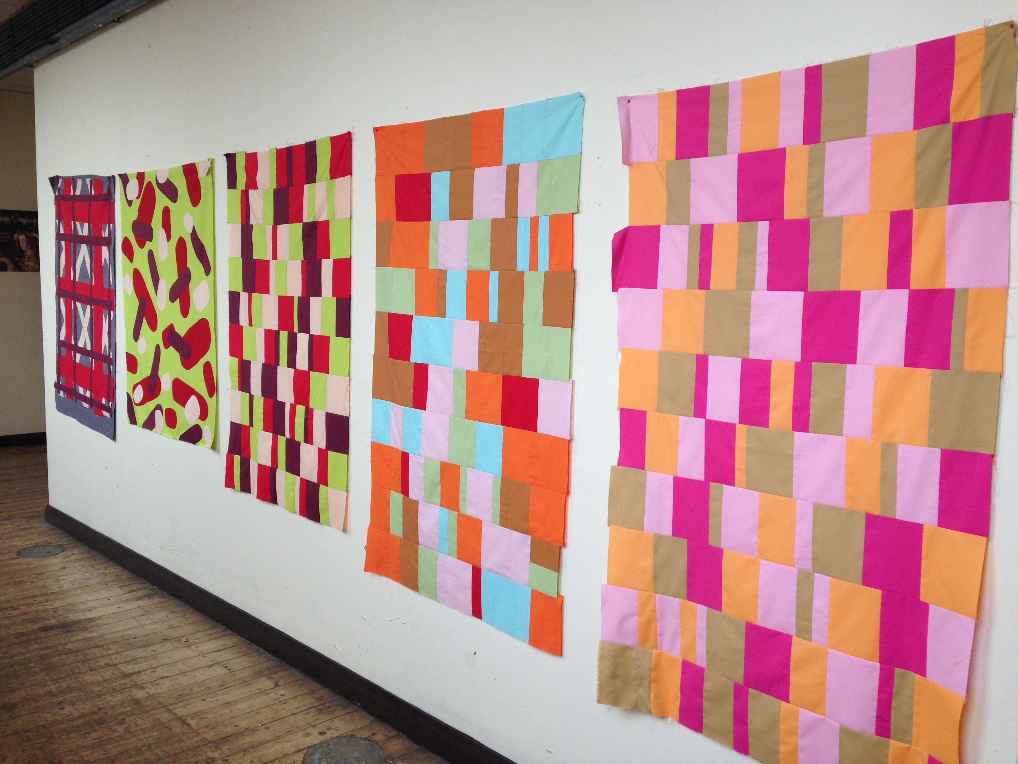 Laura McCafferty, Mishmash-Rehash-Megamix (2017) Textile panels