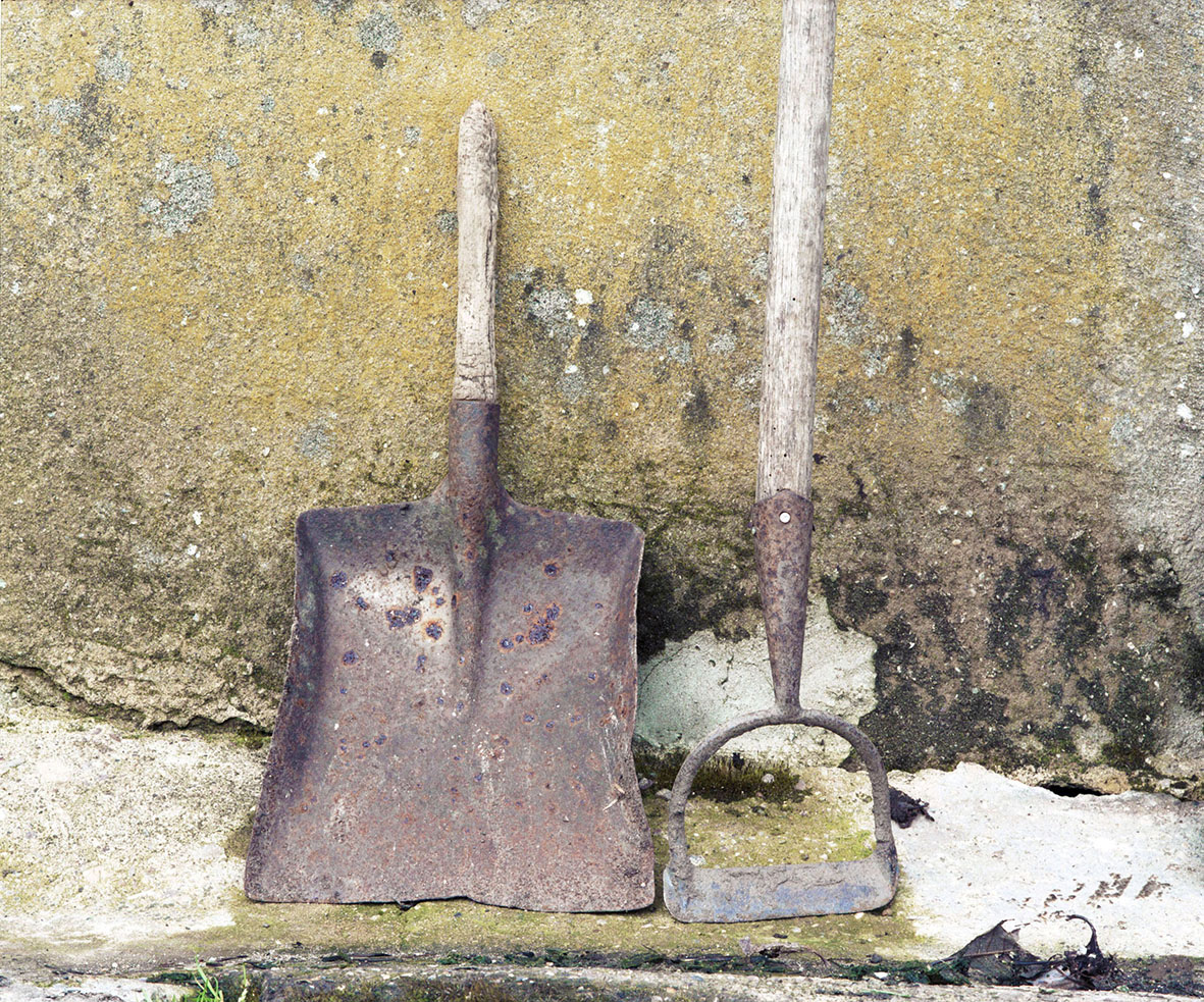 Lesley Farrell, Shovel and Hoe, from the series Boultham Park Gardens, 2011