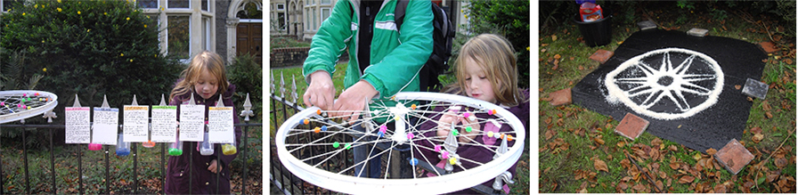 Mita Solanky, 'Wheel Work' participatory installation, for 'Made in Roath' festival, Cardiff, 2017