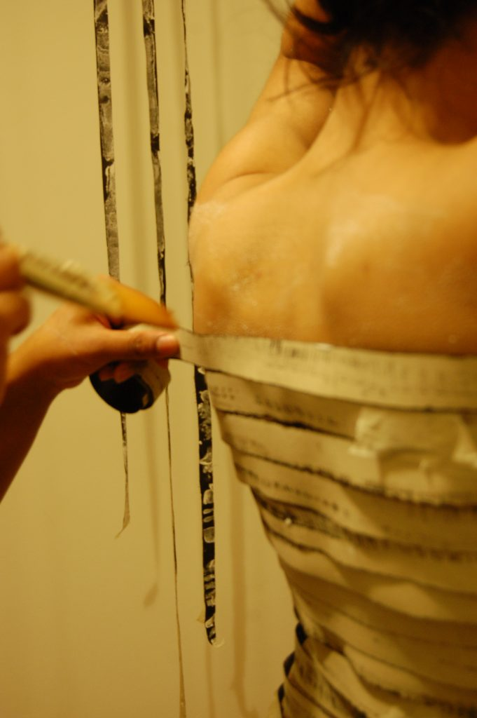 MIta Solanky, 'Body of Work' photograph of the process of making the work, 2014